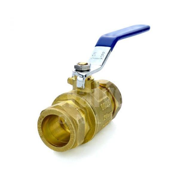 DZR Brass Ball Valve with Compression Ends
