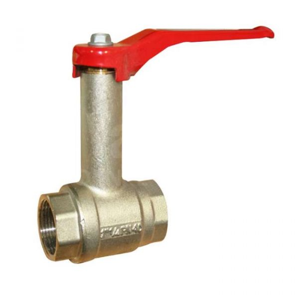 Brass Ball Valve with Fixed Extended Neck