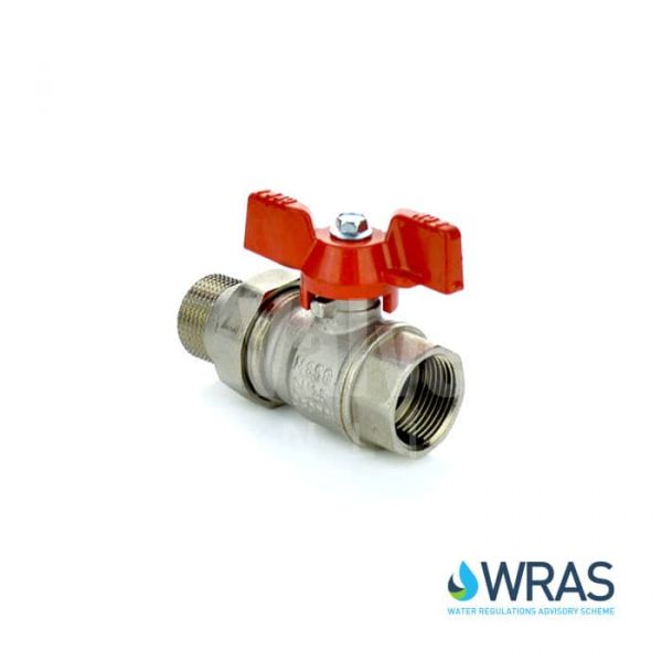 Brass Ball Valve Male Union End Butterfly Handle