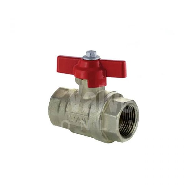 Economy Brass Ball Valve Red Butterfly Handle Vented