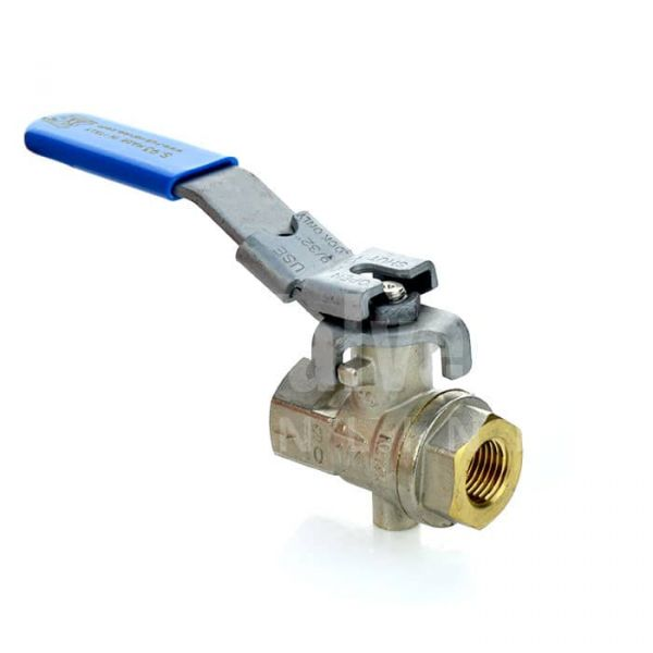 Economy Vented Brass Ball Valve with Locking Lever