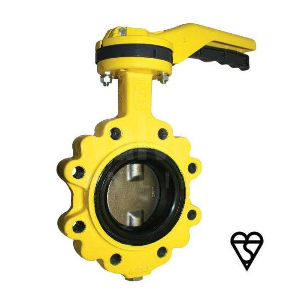 Ductile Iron Butterfly Valve BSI Gas Approved