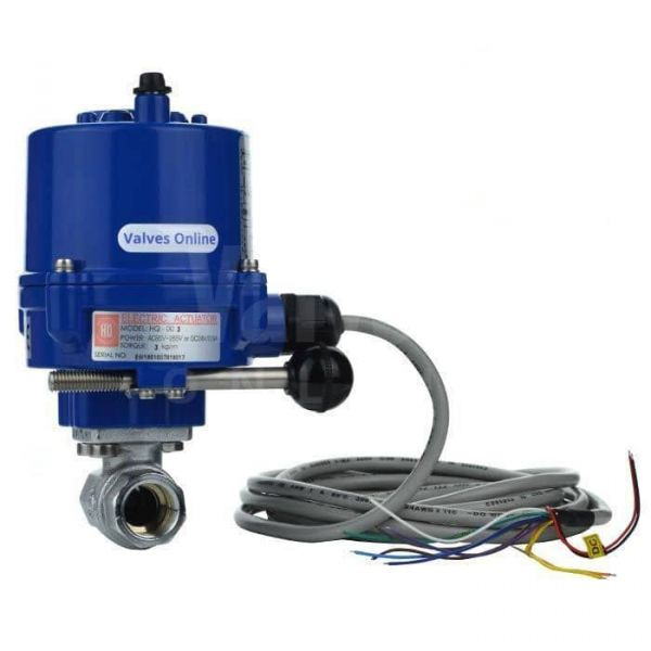 Economy Electric Motorised WRAS Approved Brass Ball Valve