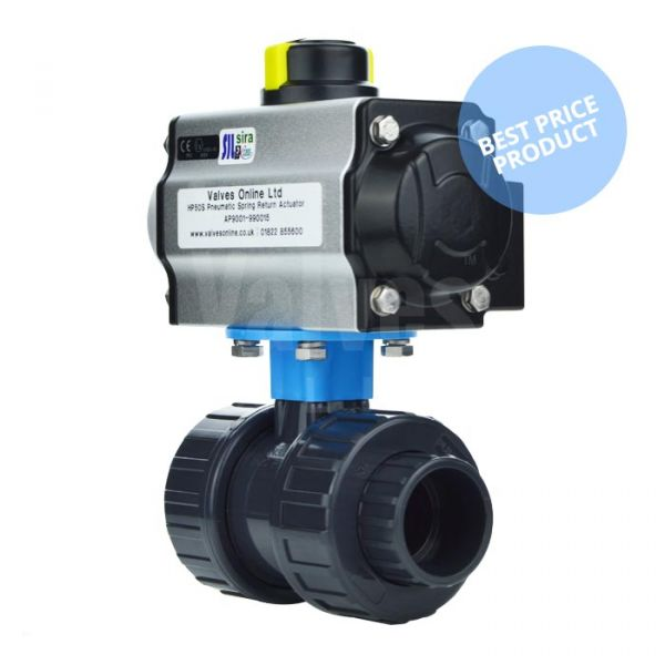 Economy Pneumatic Actuated PVC Ball Valve