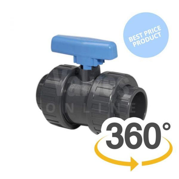 Economy PVC-U Double Union Ball Valve
