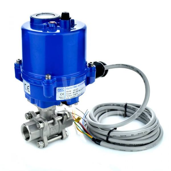 Compact Electric Actuated 2 Way Stainless steel Ball Valve