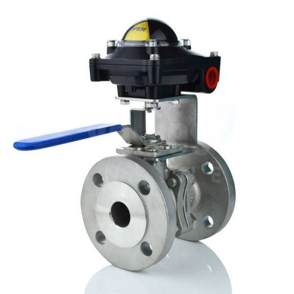 Flanged PN16 Manual Ball Valve with Limit Switchbox