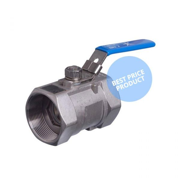 Economy Series 10LC Stainless Steel 1 Piece Ball Valve