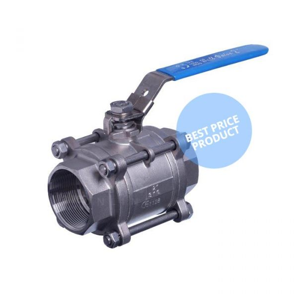 Economy Ball Valve Series 50LC 3 Piece Full Bore Female / Female