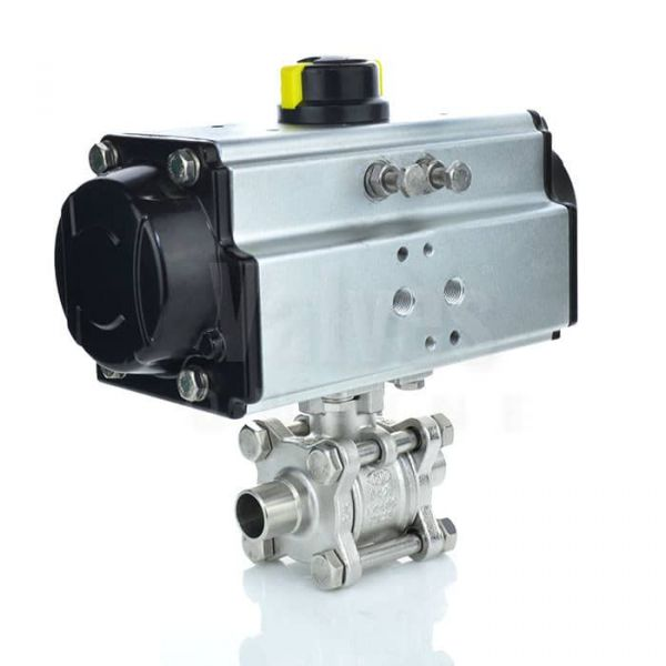 Economy Pneumatic Actuated Weld End Sanitary Ball Valve