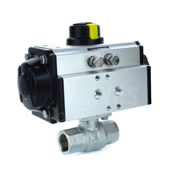 Pneumatic Actuated 2 Way Brass Ball Valve