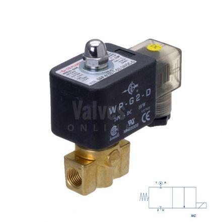 "Brass Solenoid Valve 0-120 Bar Rated High Pressure 1/4"""
