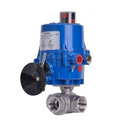 Electric Actuated Screwed 3 Way Economy Brass Ball Valve