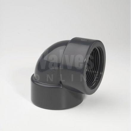 PVC 90° Plain Inch x Threaded Adaptor Elbow