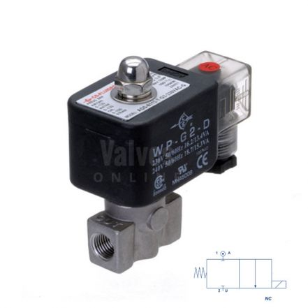 """Stainless Steel Solenoid Valve 0-120 Bar Rated High Pressure 1/4"""""""