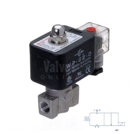 """Stainless Steel Solenoid Valve 0 Bar Rated Direct Acting 1/4"""" to 1/2"""""""