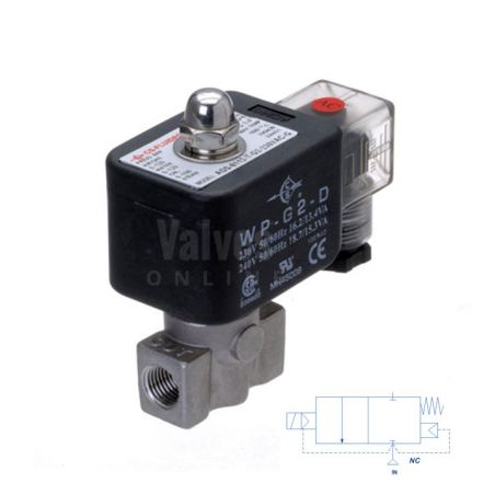 """Stainless Steel Solenoid Valve 1-100 Bar Rated High Pressure 1/8"""" - 3/8"""""""