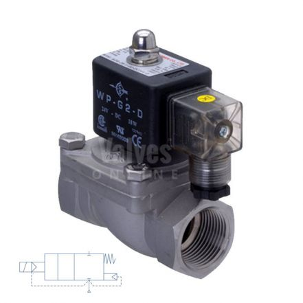 """Stainless Steel Solenoid Valve Direct Acting 1/2"""" to 2"""""""