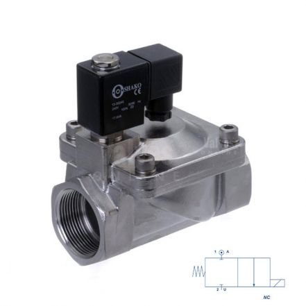 """Stainless Steel Solenoid Valve Servo Assisted 3/8"""" to 2"""""""