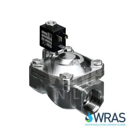 Stainless Steel Servo Assisted Solenoid Valve Normally Closed WRAS Approved