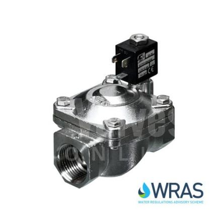 Stainless Steel Servo Assisted Solenoid Valve Normally Open WRAS Approved
