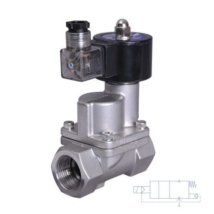 """Stainless Steel Solenoid Valve 0.2-10 Bar Rated Steam Servo Assisted 1/2"""" - 2"""""""