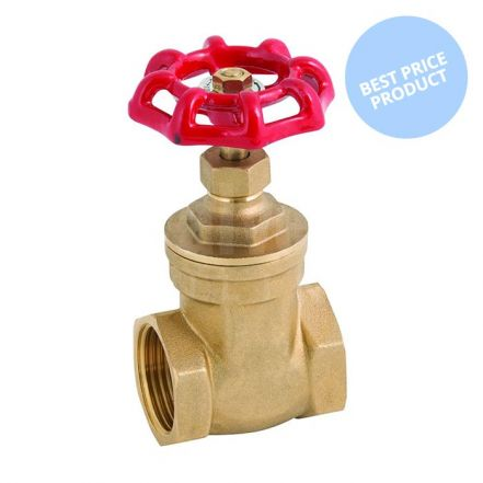 "Brass Economy Gate Valve Screwed - 3/8"" to 4"""