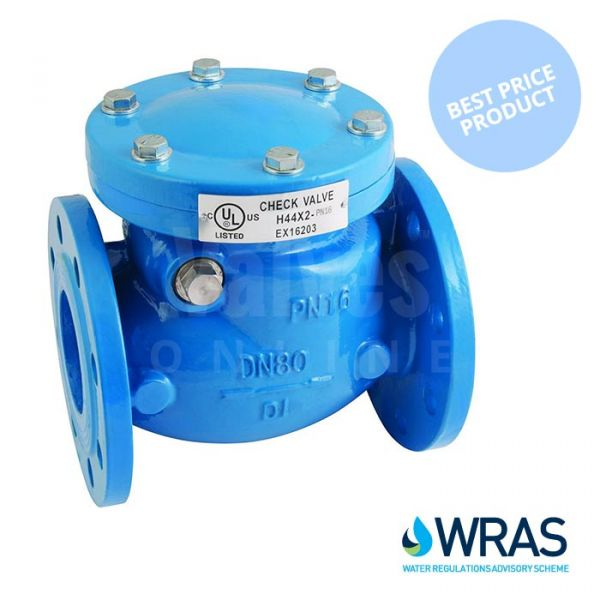 Economy Flanged PN16 Swing Check Valve - WRAS Approved