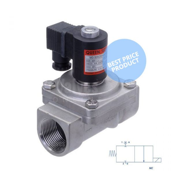Stainless Steel Solenoid Valve 0 Bar Rated Assisted Lift 1/2