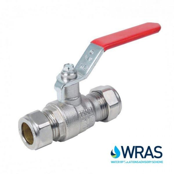 Brass Ball Valve Compression End with Lever