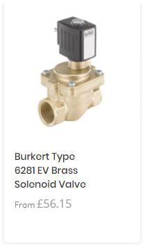 Burkert 6281 Brass Solenoid Valve