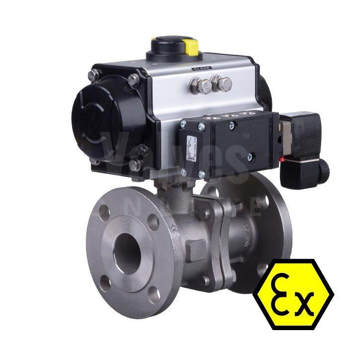 ATEX / PED certified actuator