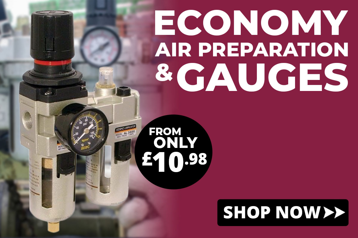 Economy air preparation and gauges