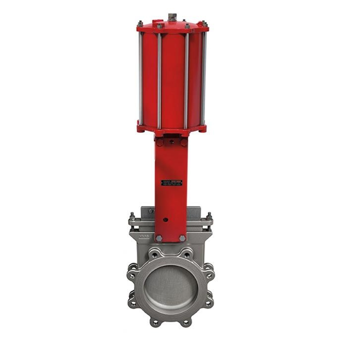 Pneumatic Operated Bray Ductile Iron Lugged PN10 Bi-Directional Knife Gate Valve