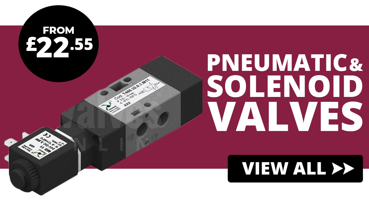 Pneumatic and solenoid valves